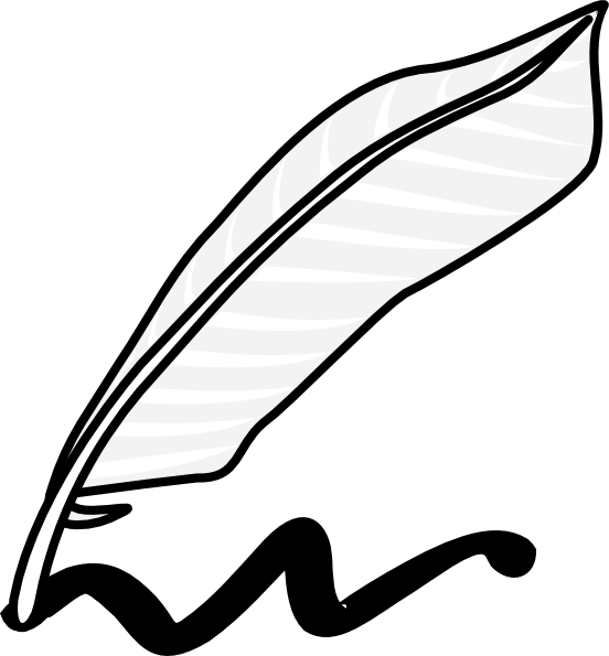 feather-clipart-407-writing-using-a-feather-and-ink-design